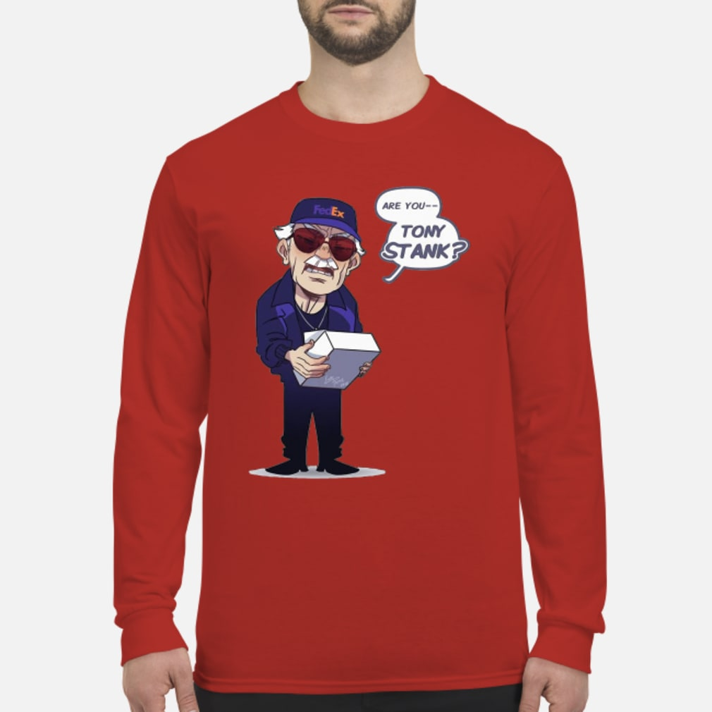 Fedex Are You Tony Stank Shirt Long sleeved