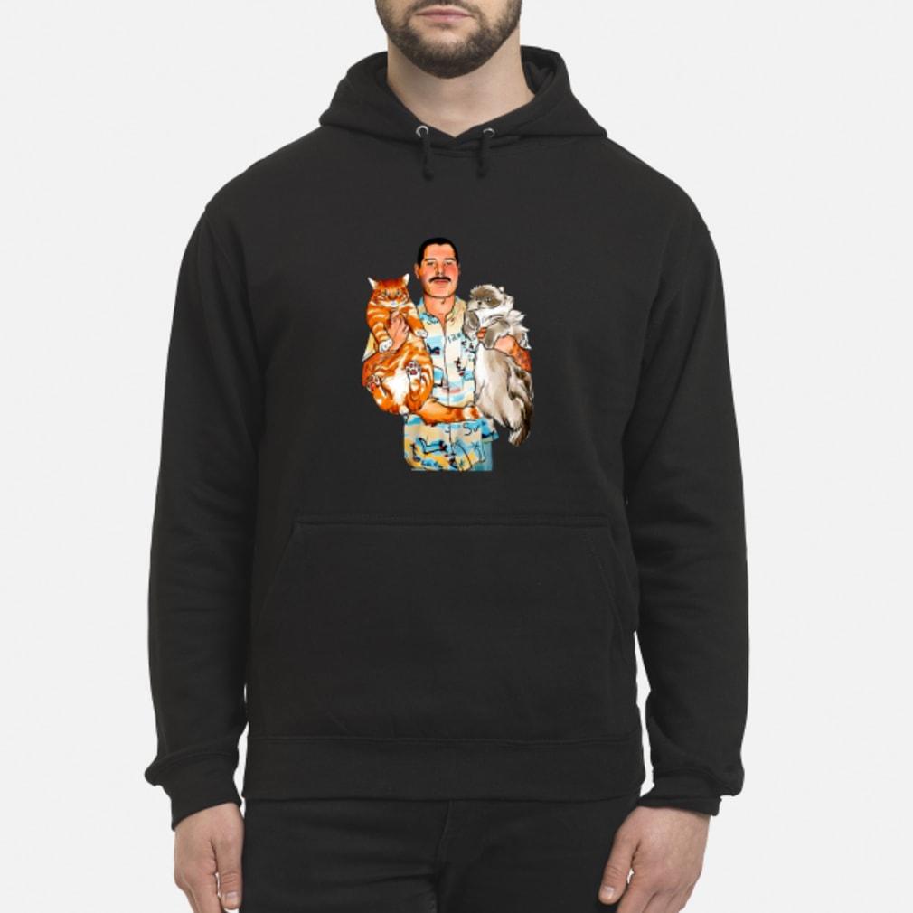 Freddie Mercury With His Cats Shirt hoodie