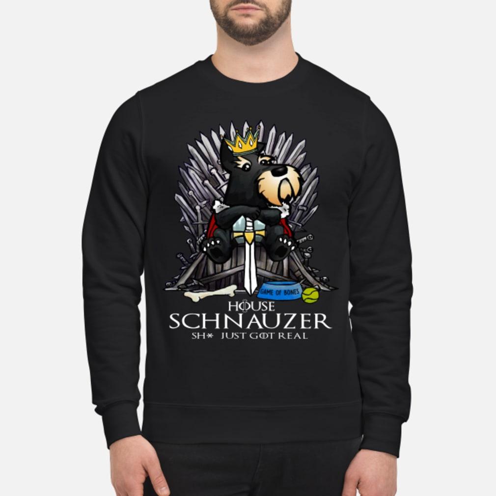 Game Of Bones House Schnauzer Shit Just GOT Real Shirt sweater