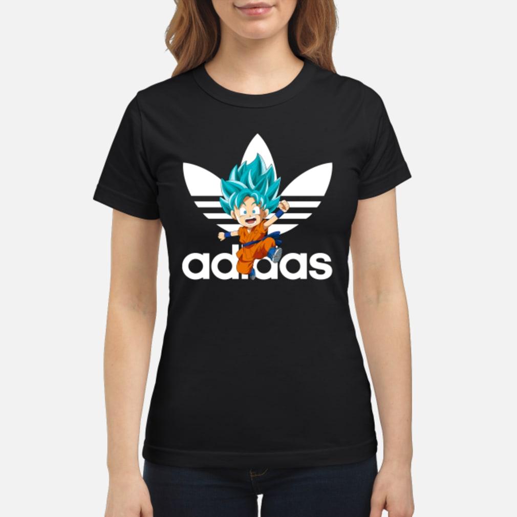 Goku Blue Chibi Adidas Shirt ladies tee