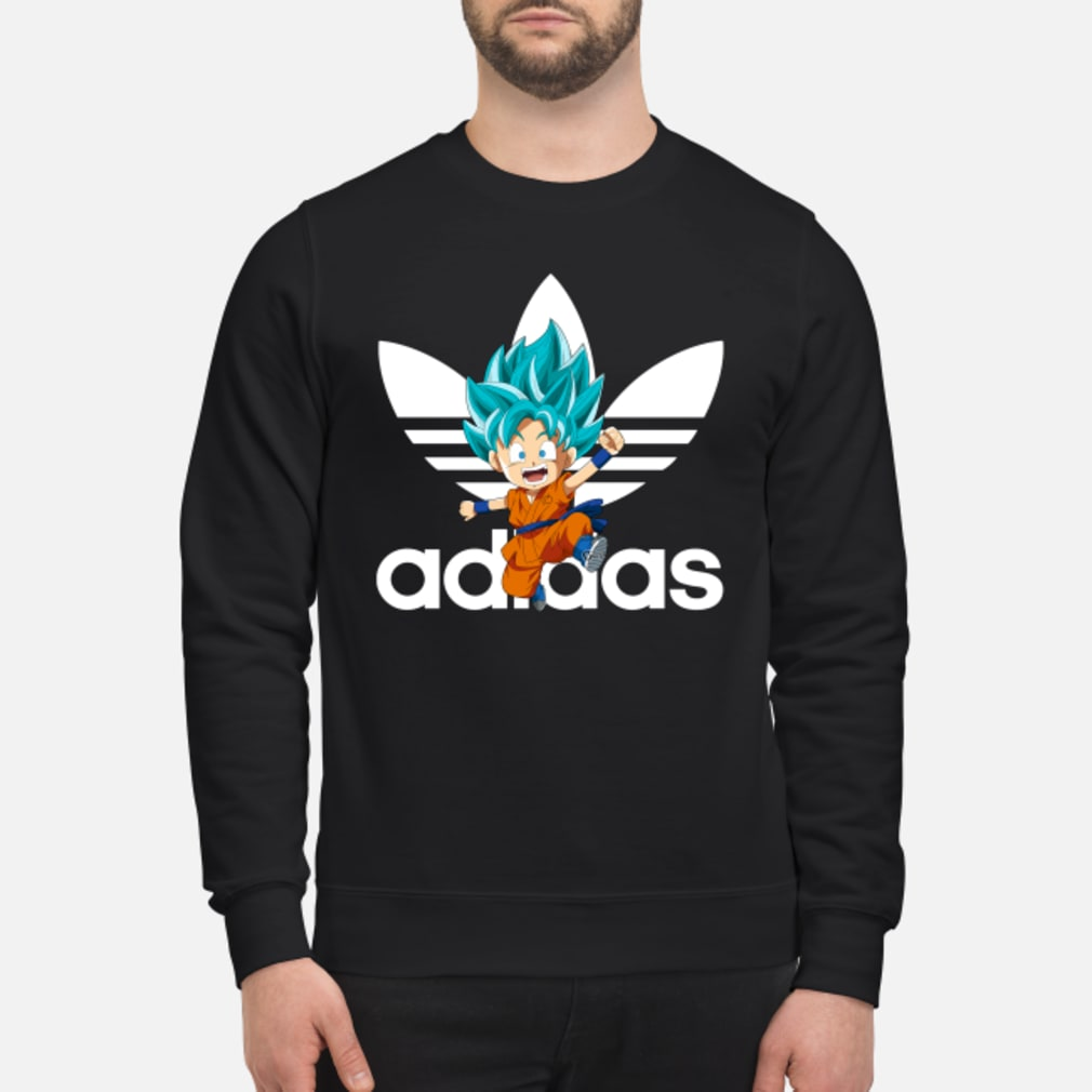 Goku Blue Chibi Adidas Shirt sweater