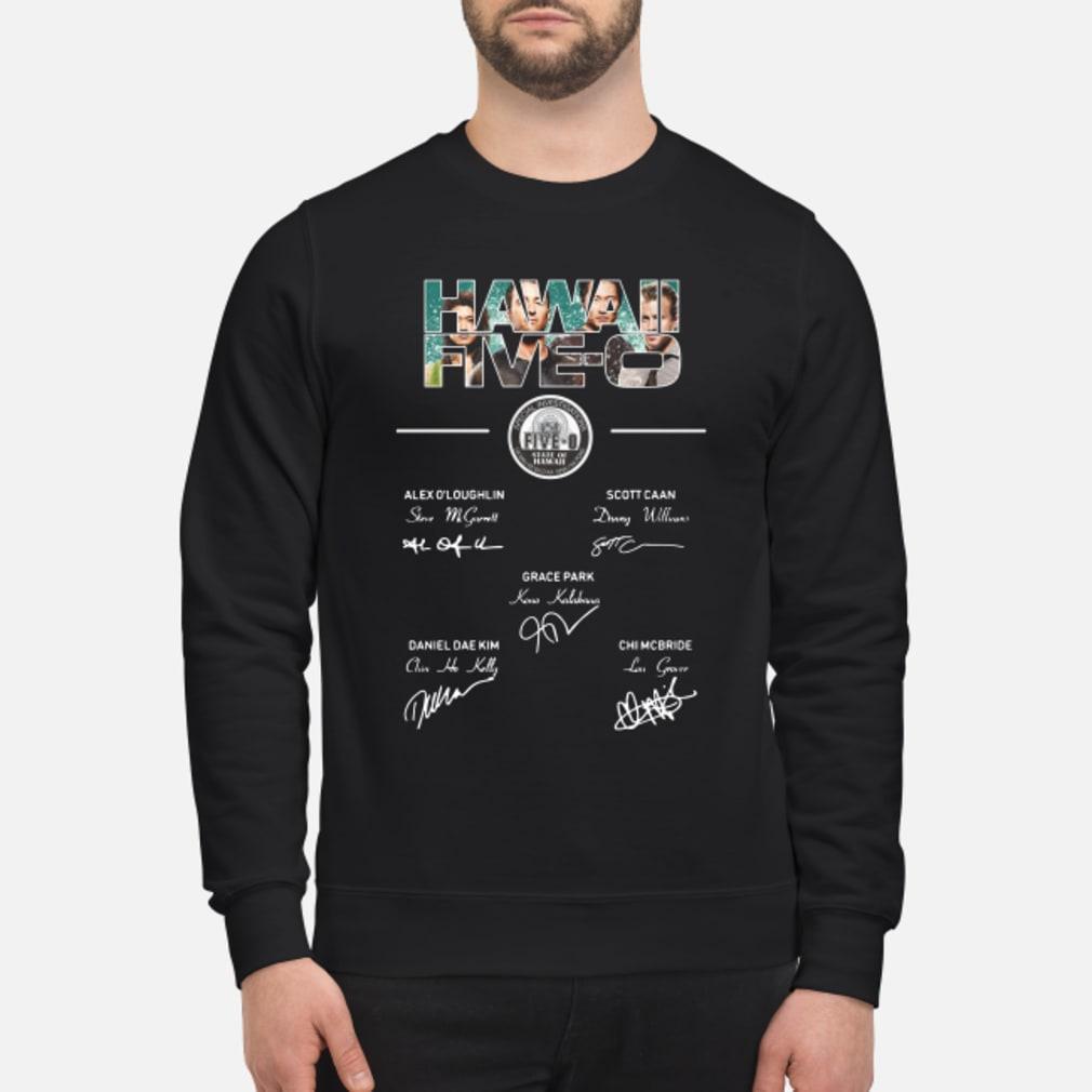 Hawaii Five-0 members signature shirt sweater