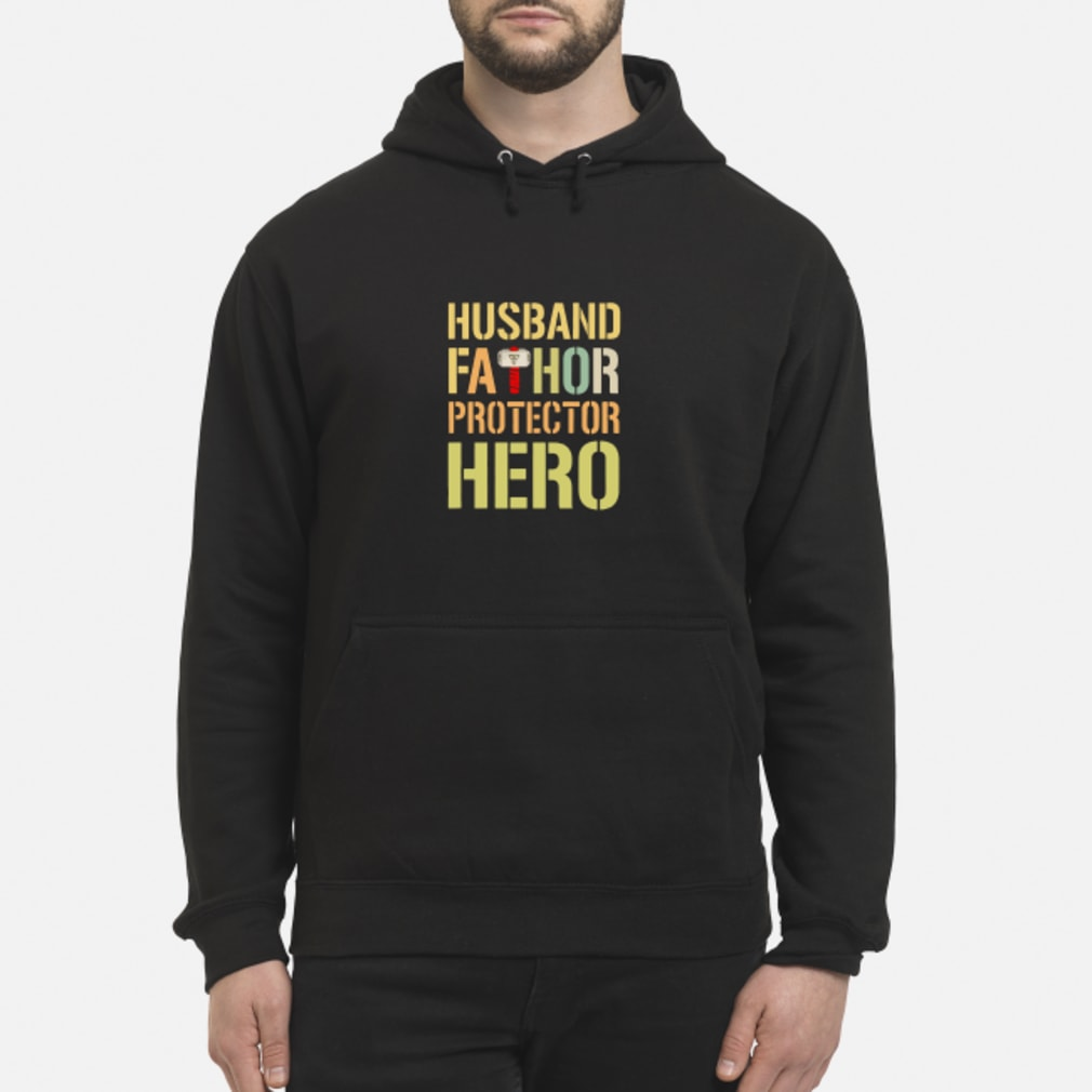 Husband fathor protector hero shirt hoodie