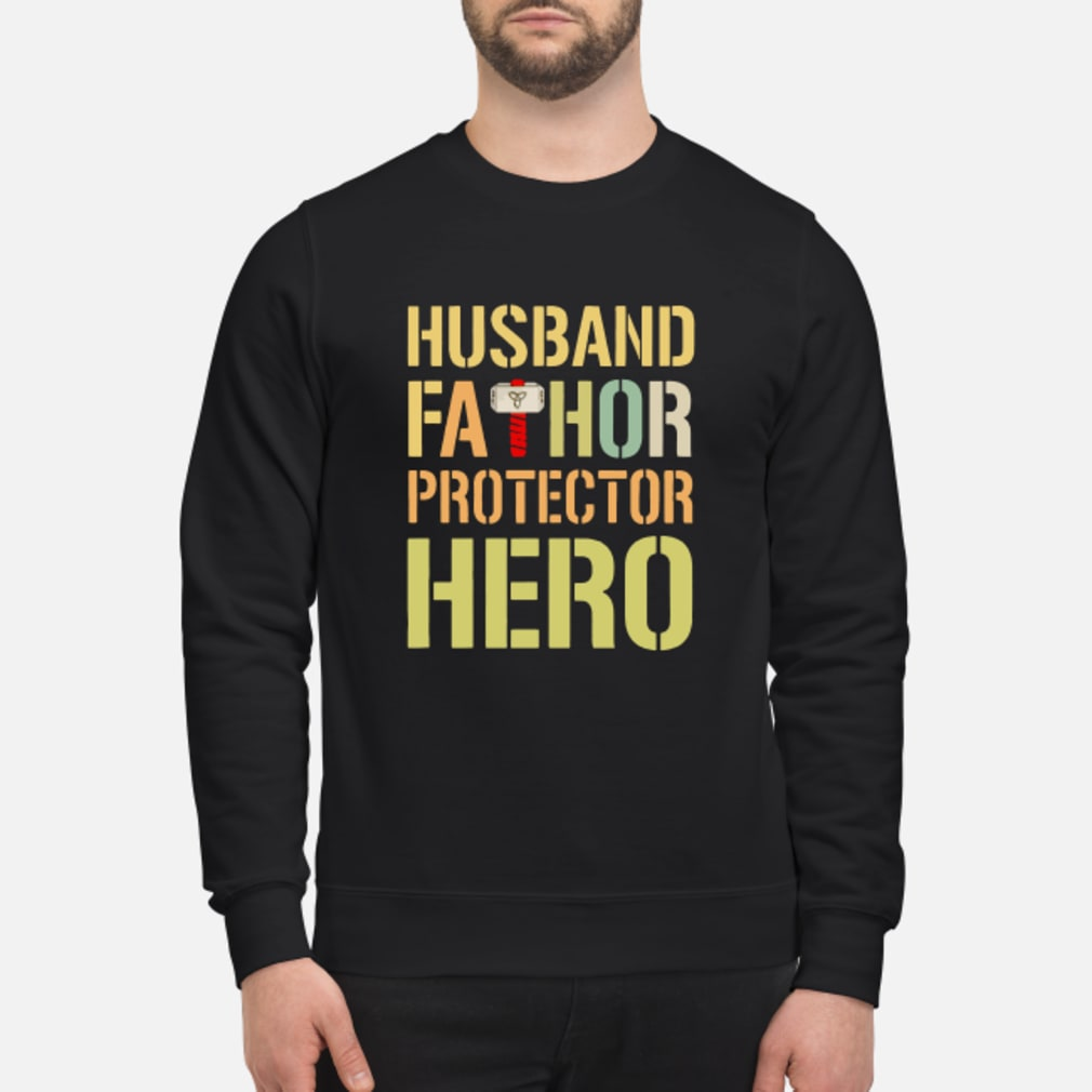 Husband fathor protector hero shirt sweater