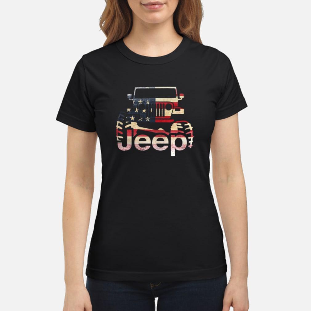 Jeep Flag USA shirt ladies tee