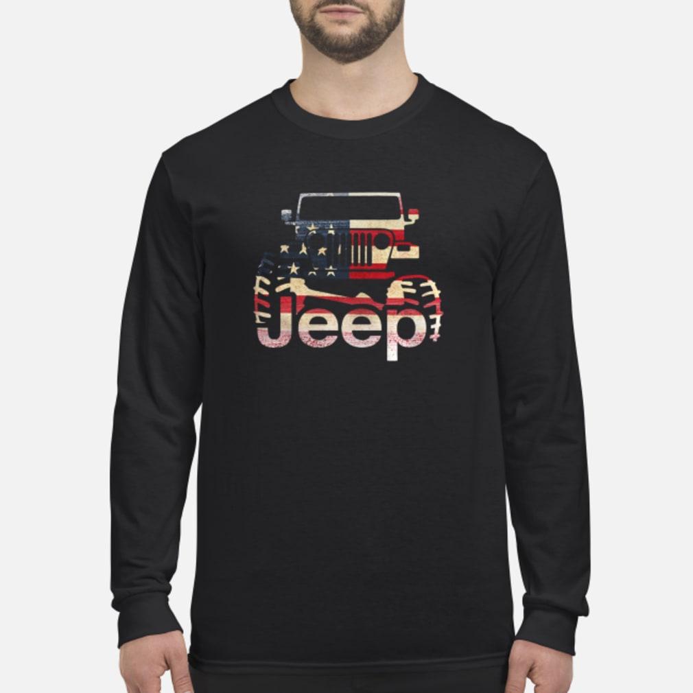 Jeep Flag USA shirt Long sleeved
