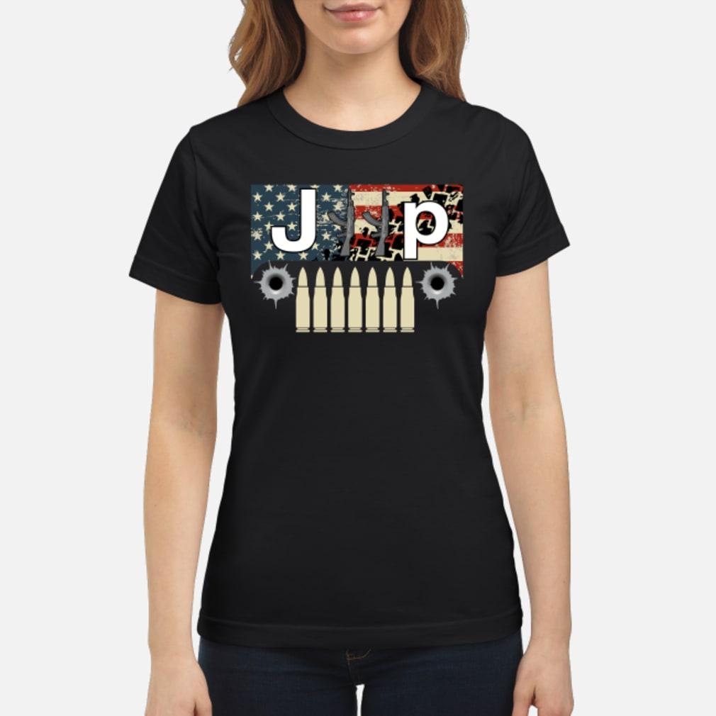 Jeep guns flag America shirt ladies tee