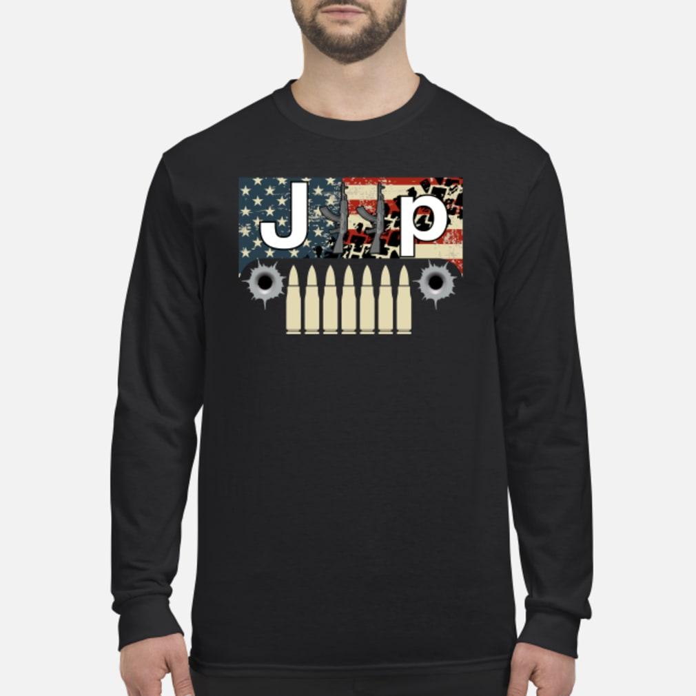 Jeep guns flag America shirt Long sleeved