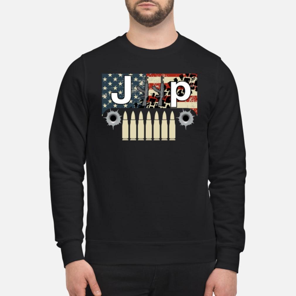 Jeep guns flag America shirt sweater