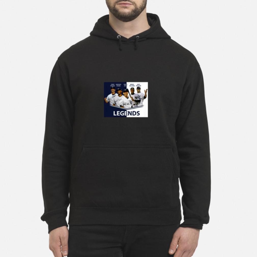 Jorge Posada Mariano Rivera Derek Jeter Bernie Williams Andy Pettitte Legends shirt hoodie