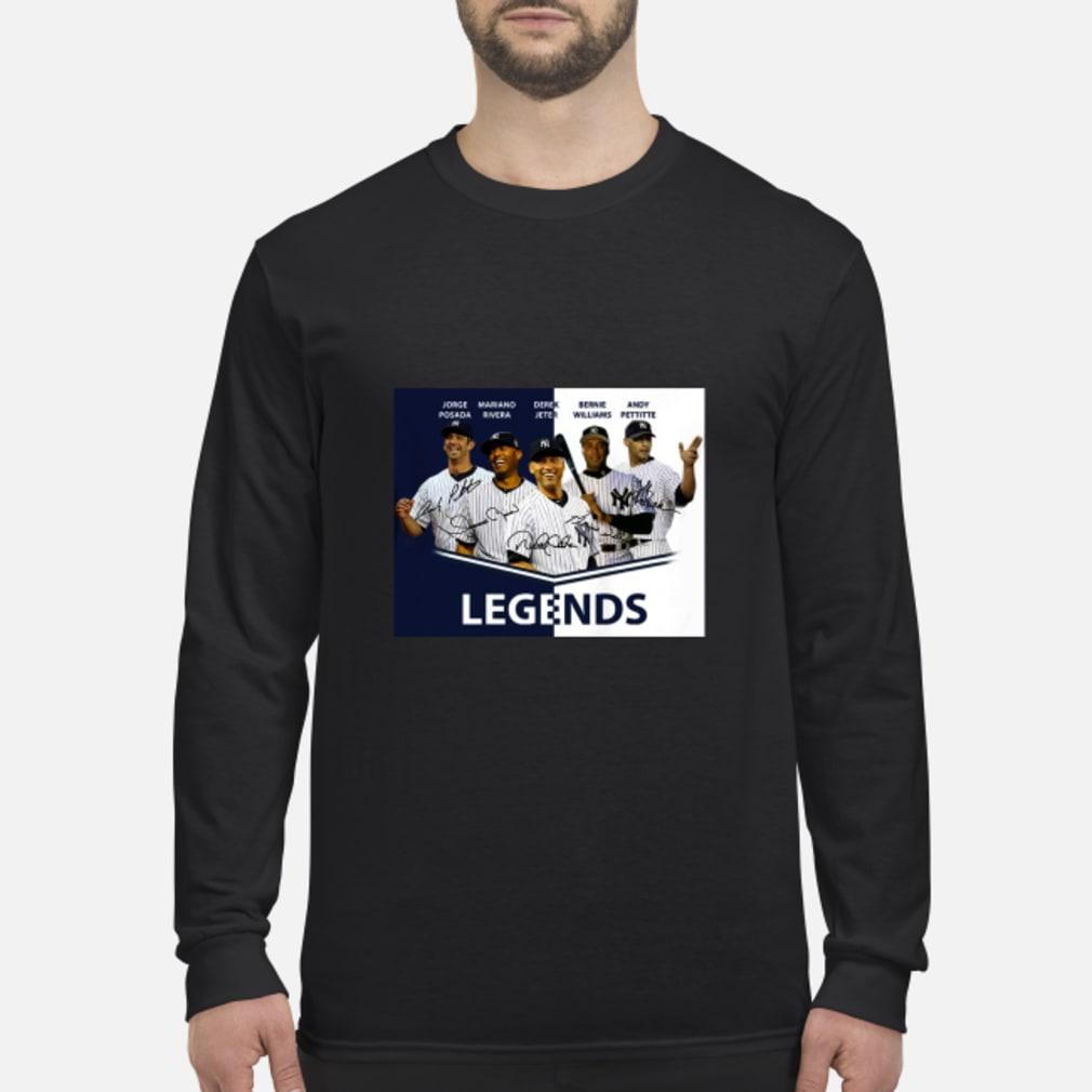 Jorge Posada Mariano Rivera Derek Jeter Bernie Williams Andy Pettitte Legends shirt Long sleeved