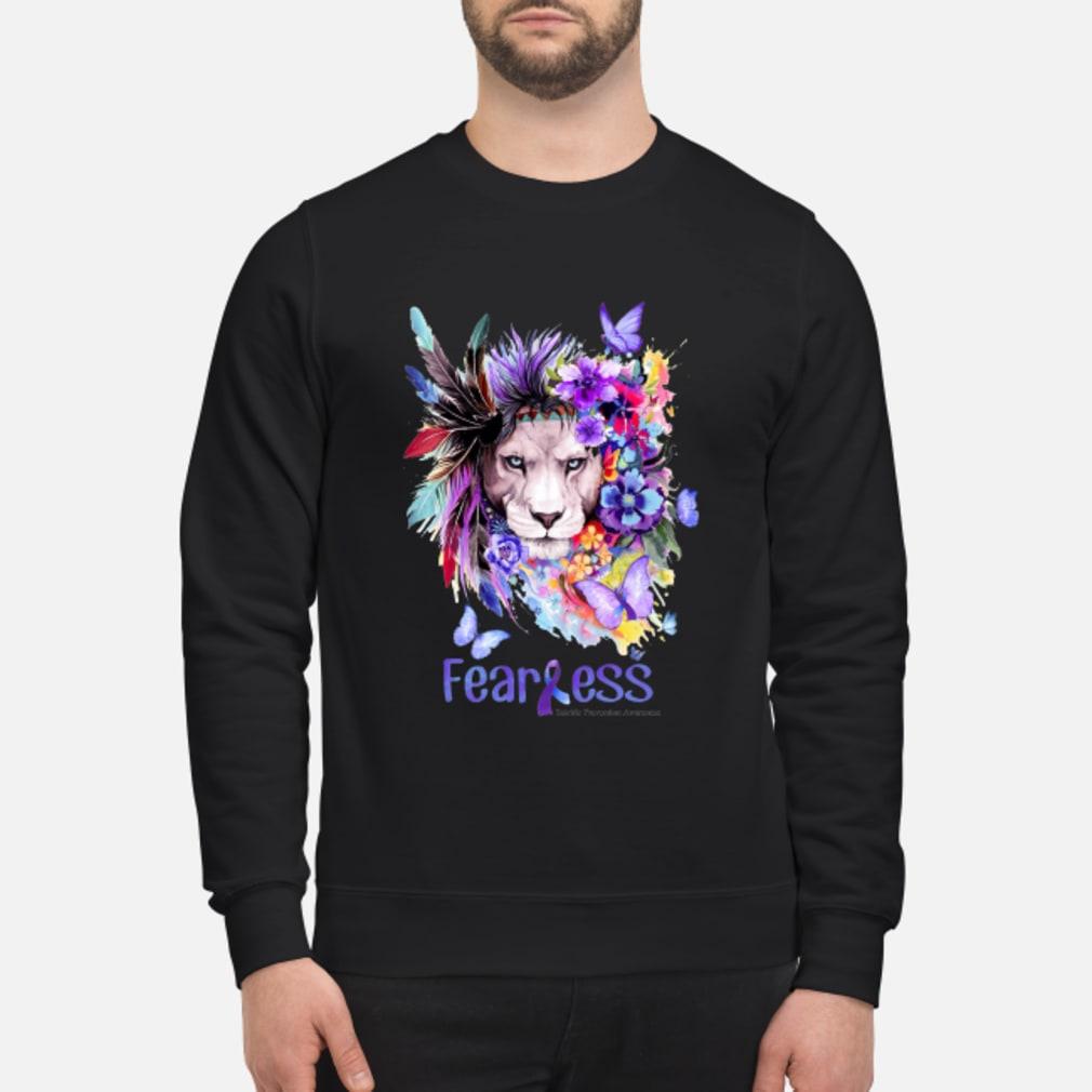 Lion flower fearless shirt sweater