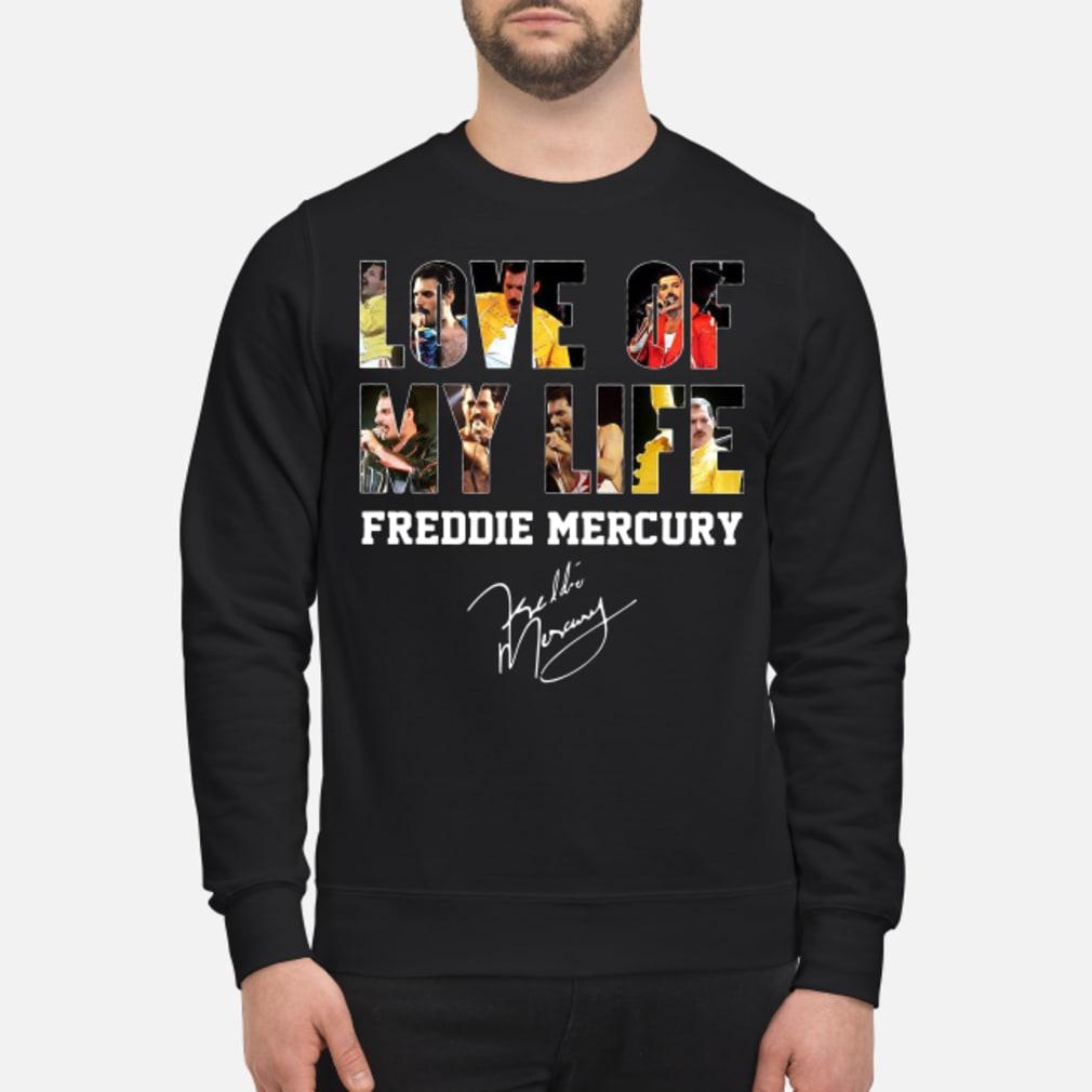 Love of my life Freddie Mercury signature shirt sweater