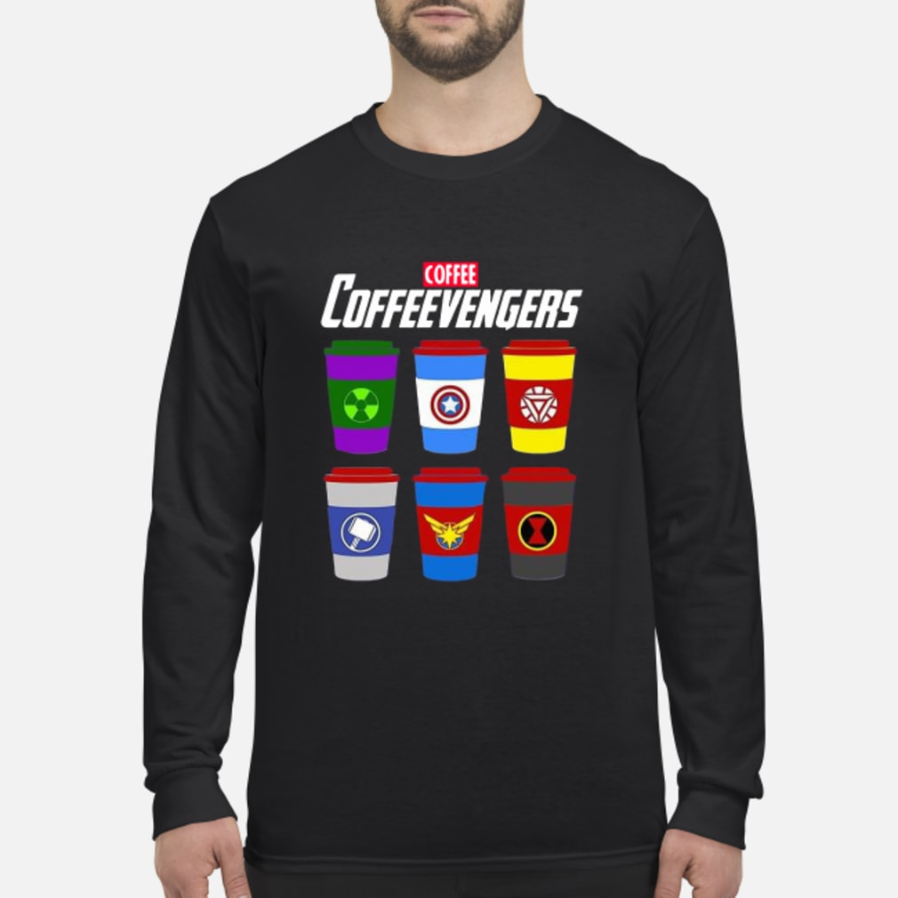 Marvel Avengers Coffee Coffeevengers shirt Long sleeved