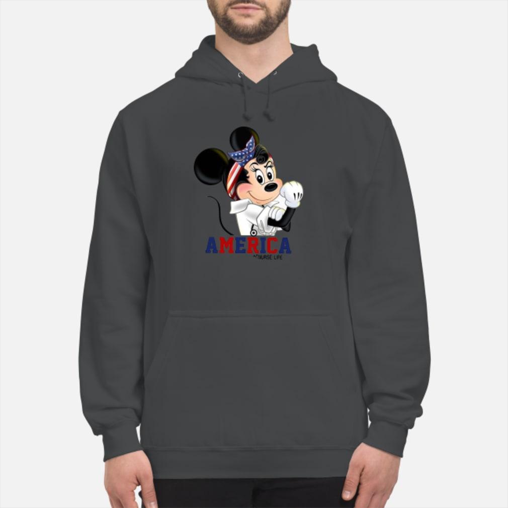 Mickey American life shirt hoodie