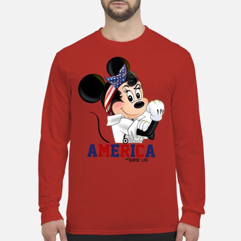 Mickey American life shirt Long sleeved