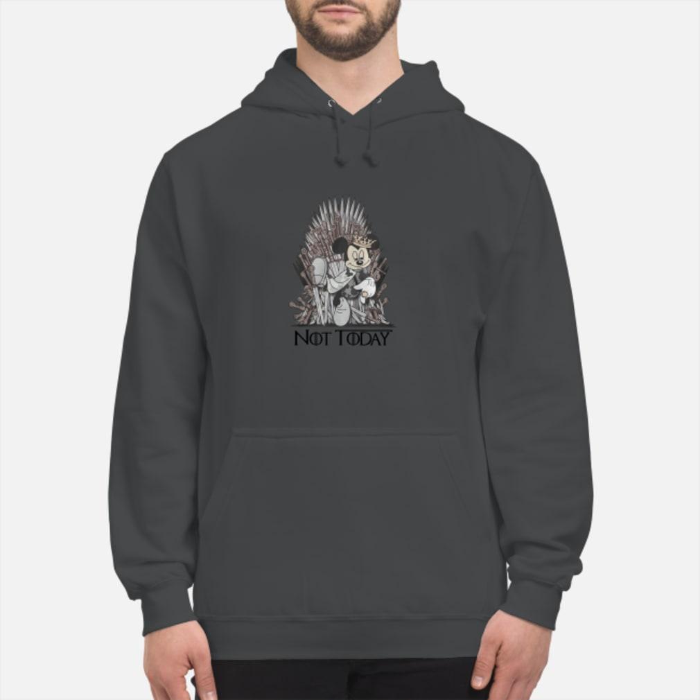 Mickey iron Throne Not today shirt hoodie