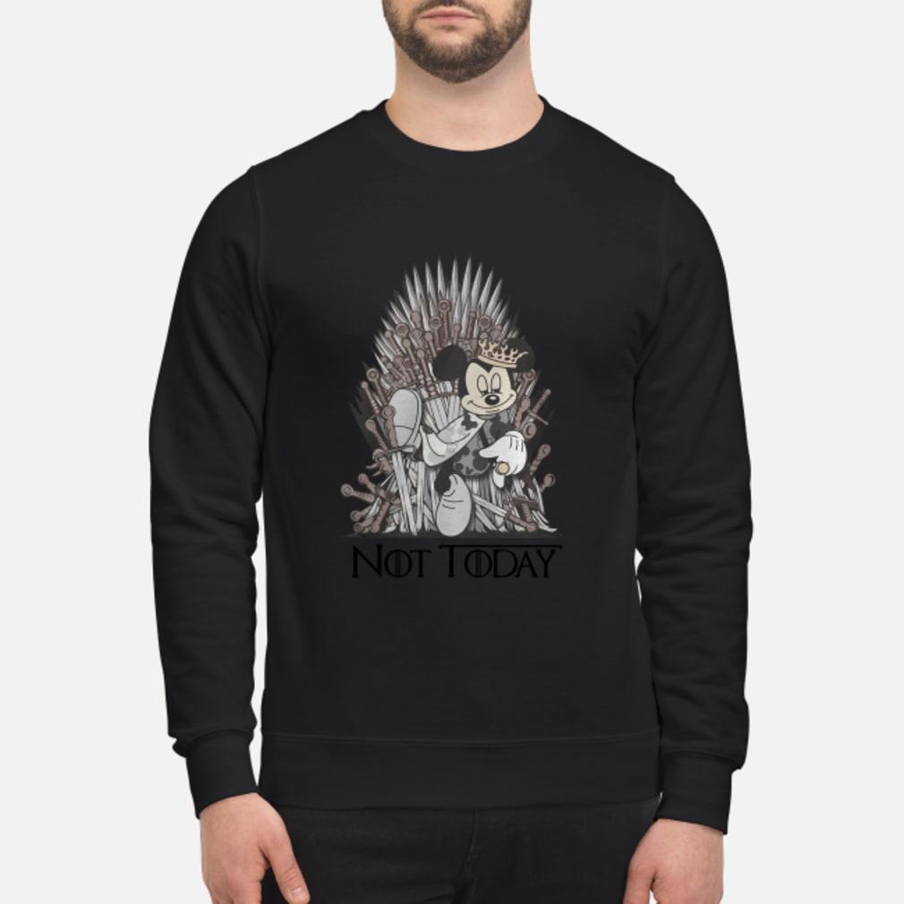 Mickey iron Throne Not today shirt sweater