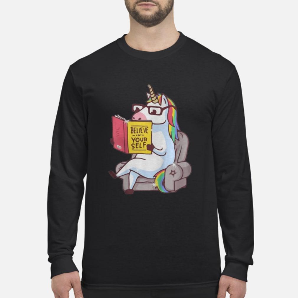Mr. Unicorn Reads On The Soa shirt Long sleeved