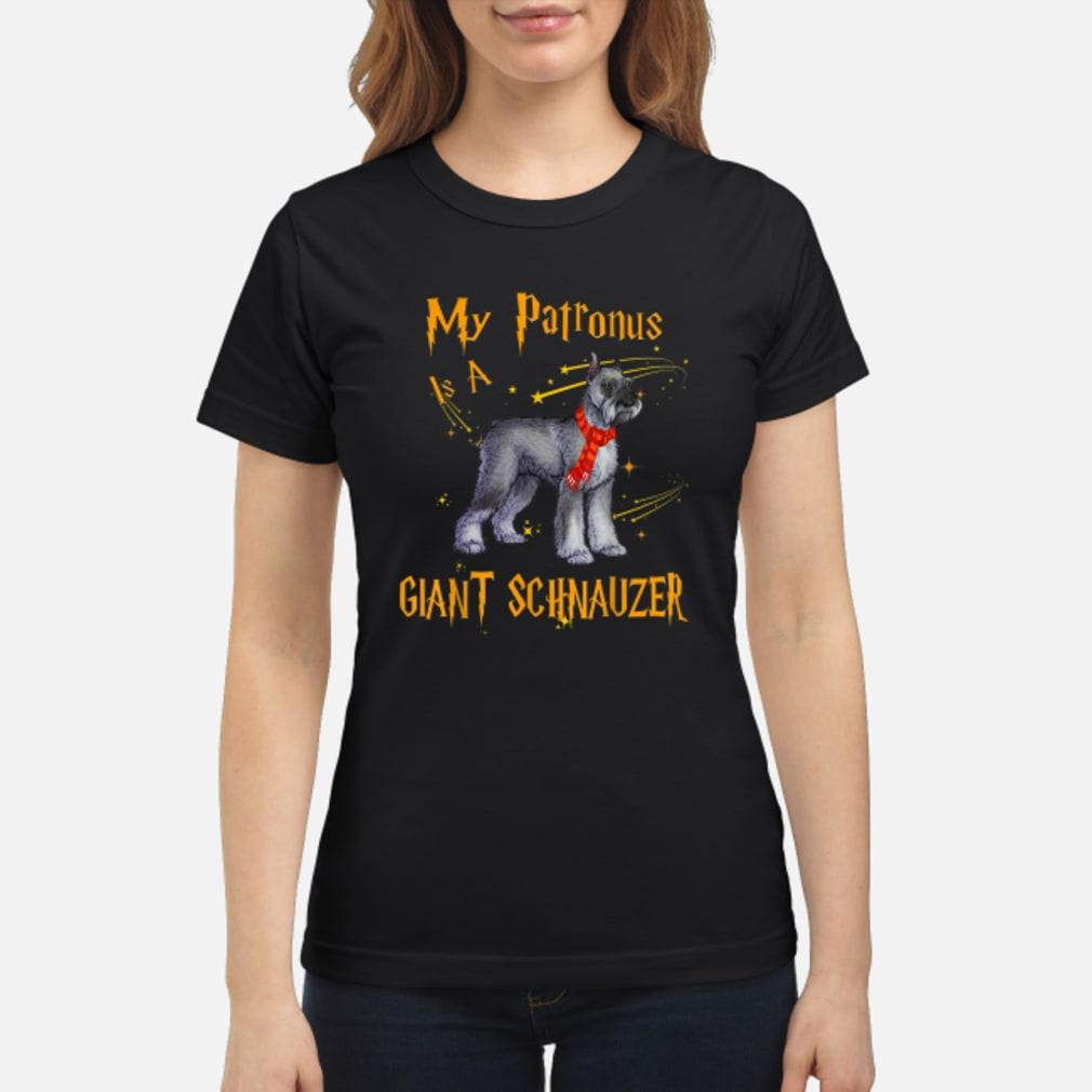 My Patronus Is A Giant Schnauzer Dog Shirt ladies tee
