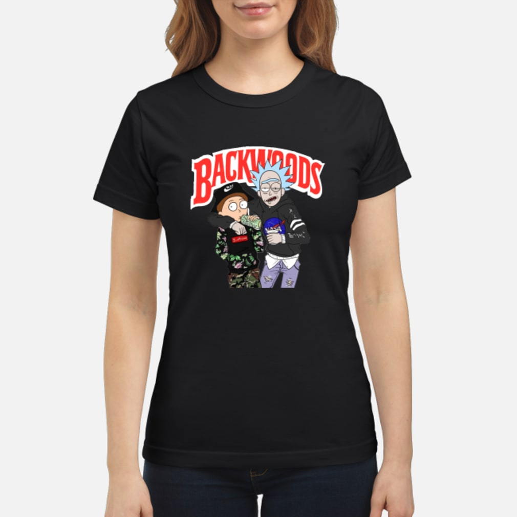 Rick and Morty Backwoods shirt ladies tee