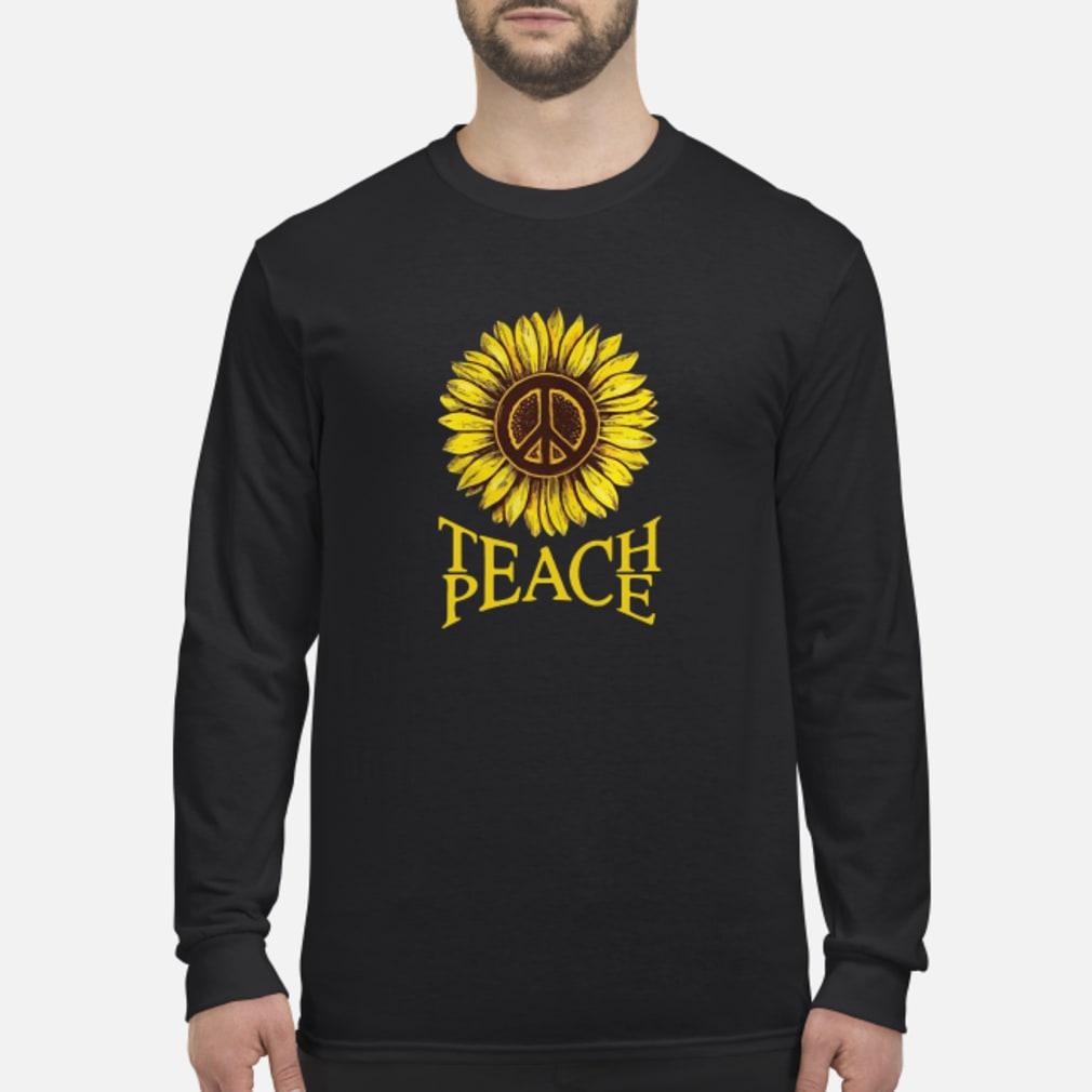 Teach peace Sunflower shirt Long sleeved