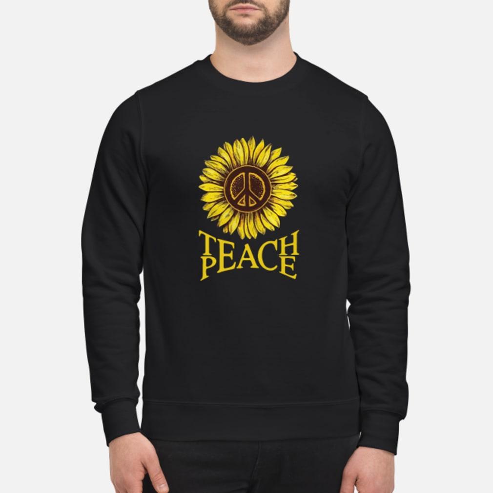 Teach peace Sunflower shirt sweater