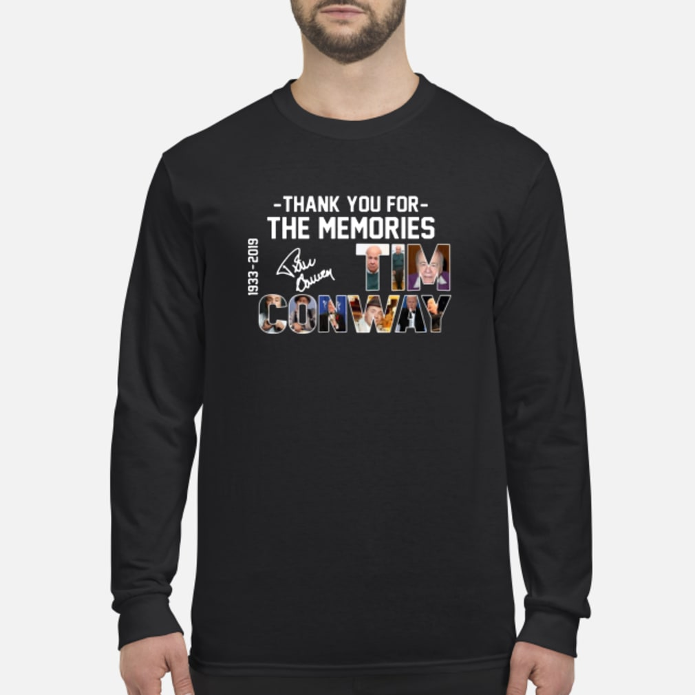 Thank You For The Memories Cnway 1933 2019 shirt Long sleeved