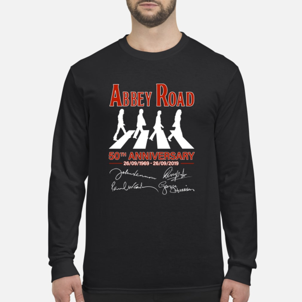 The Beatles Album Abbey Road 50th Anniversary 1969-2019 shirt Long sleeved