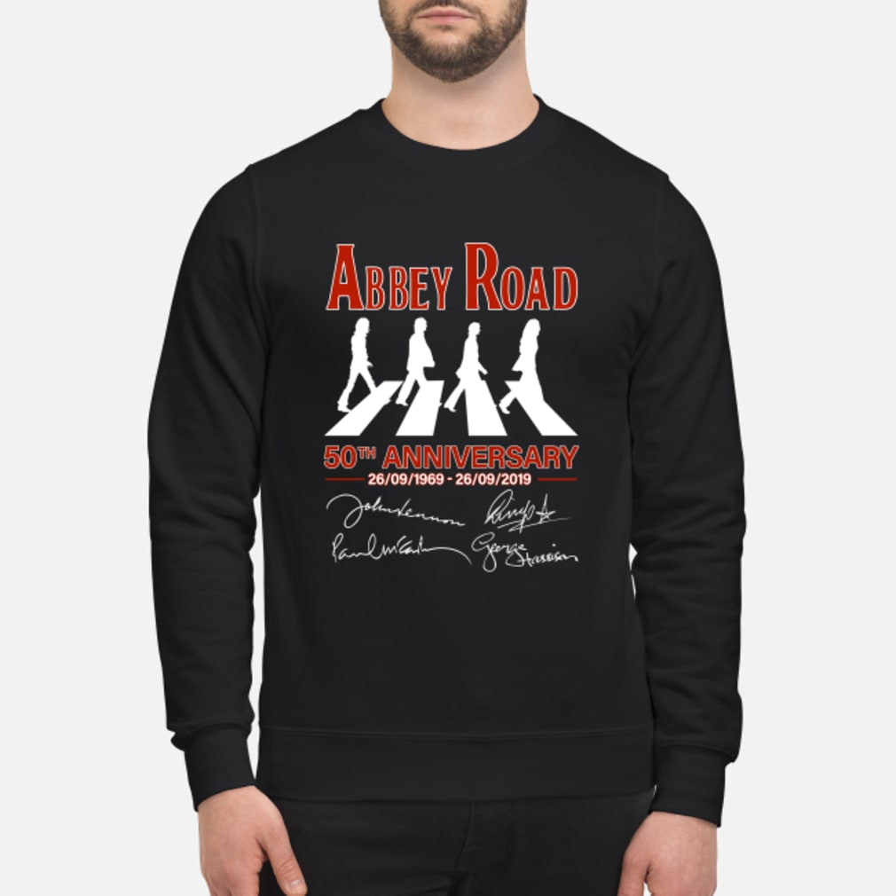 The Beatles Album Abbey Road 50th Anniversary 1969-2019 shirt sweater