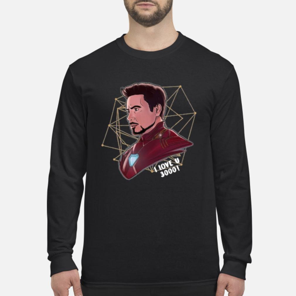 Top Iron Man Tony Stark I love U 3000 daughter shirt Long sleeved