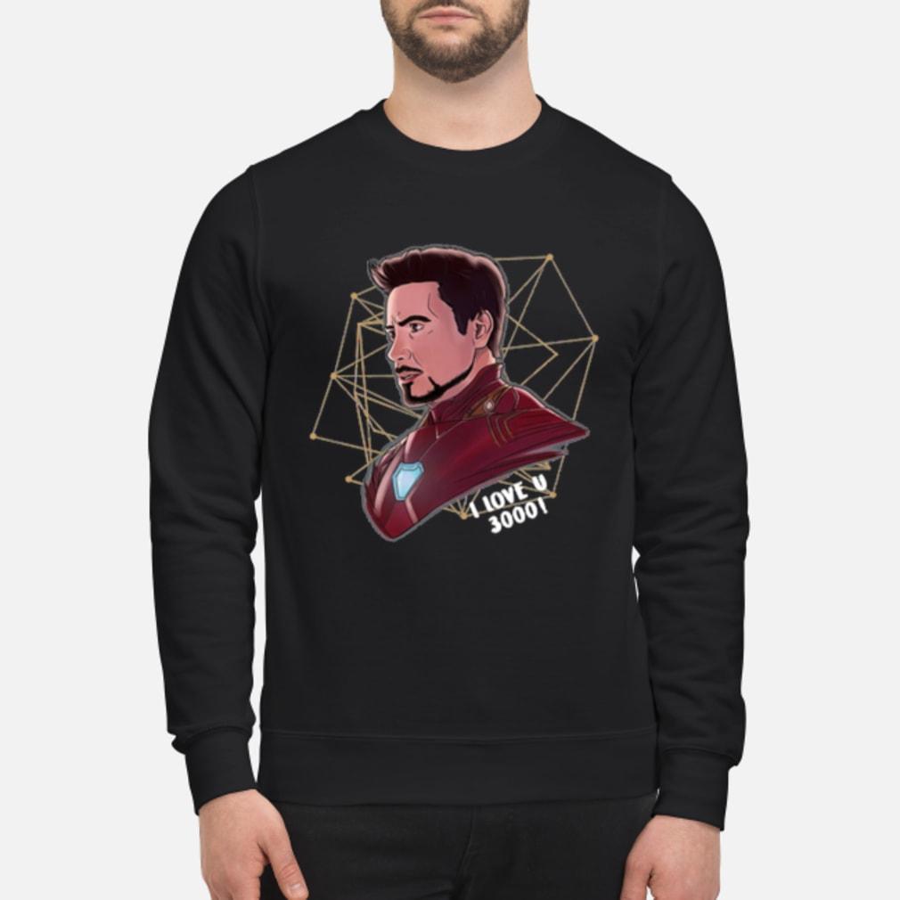 Top Iron Man Tony Stark I love U 3000 daughter shirt sweater