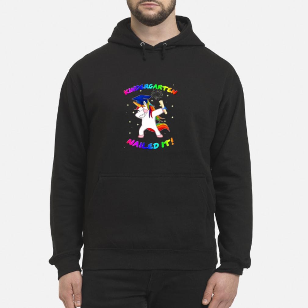 Unicorn Dabbing Nailed it shirt hoodie
