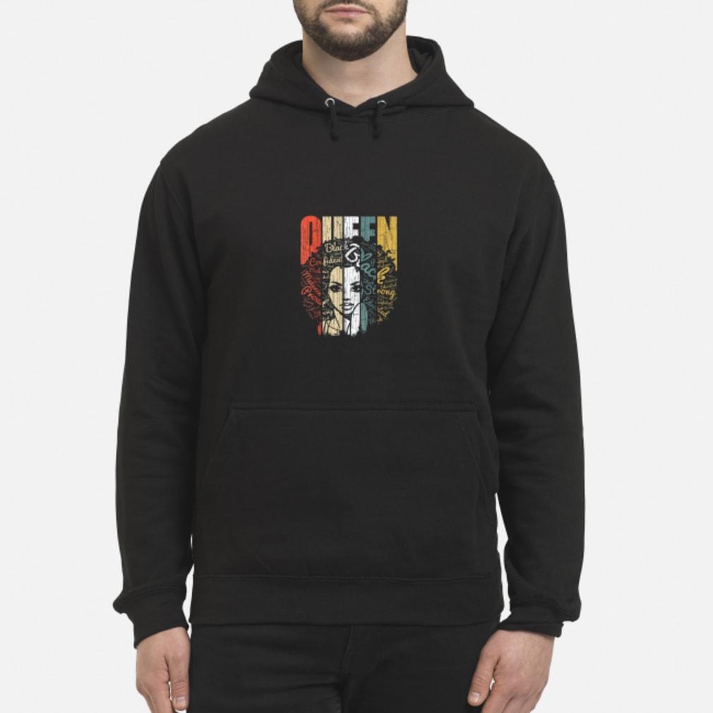 Vintage african american educate strong black queen shirt hoodie