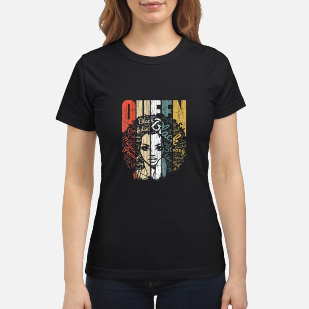 Vintage african american educate strong black queen shirt ladies tee
