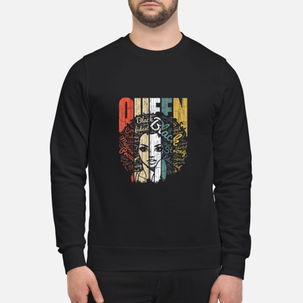 Vintage african american educate strong black queen shirt sweater