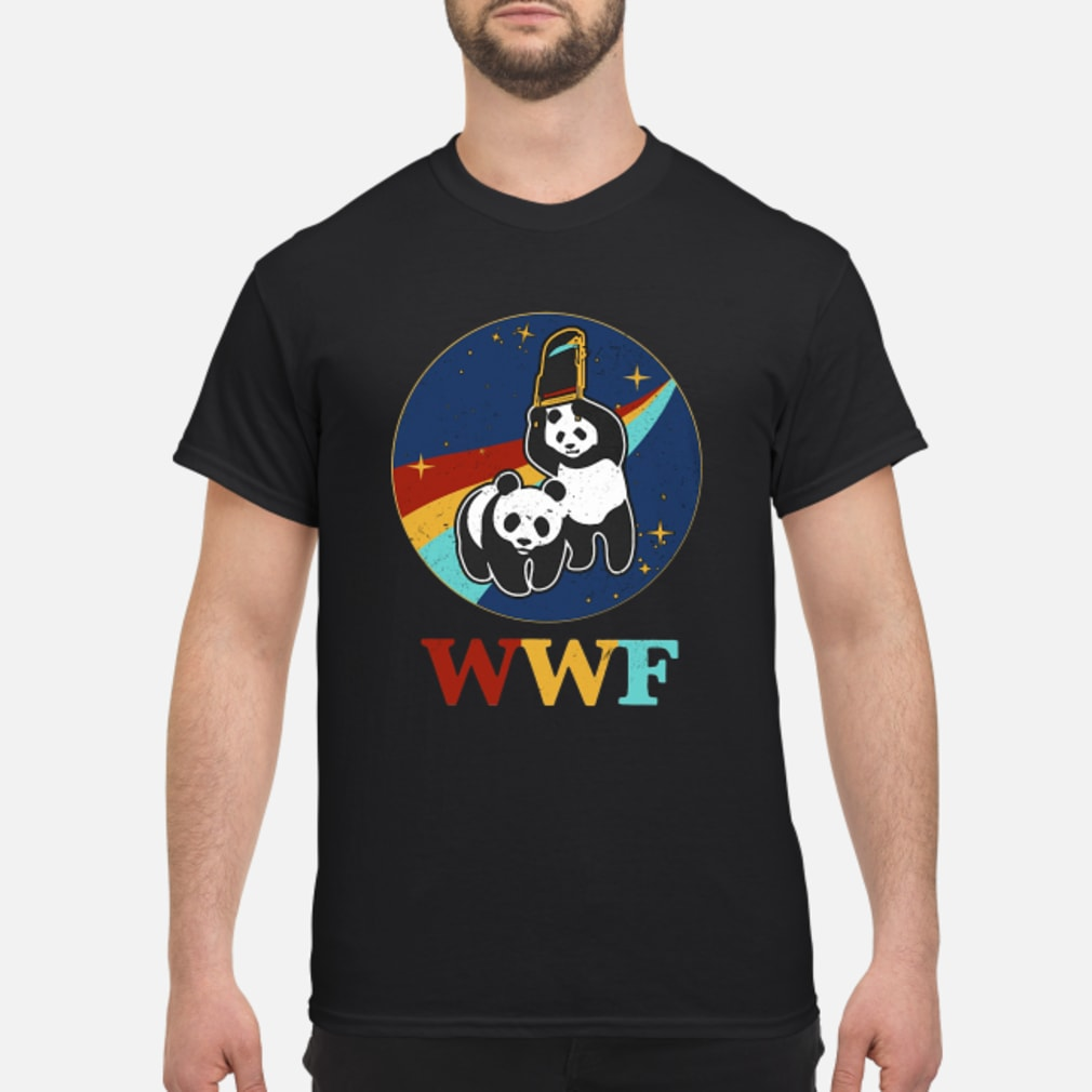 WWF panda bear Wrestling NASA shirt