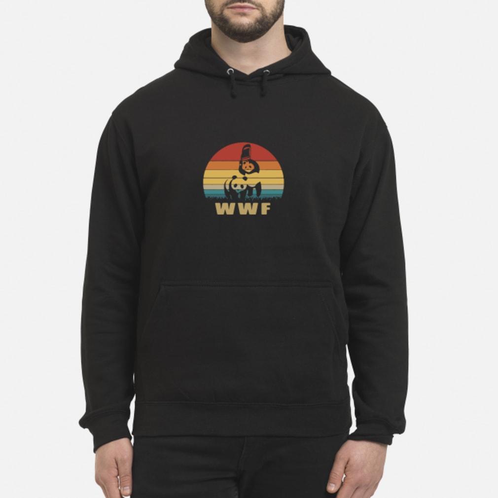 WWF wrestling panda vintage shirt hoodie