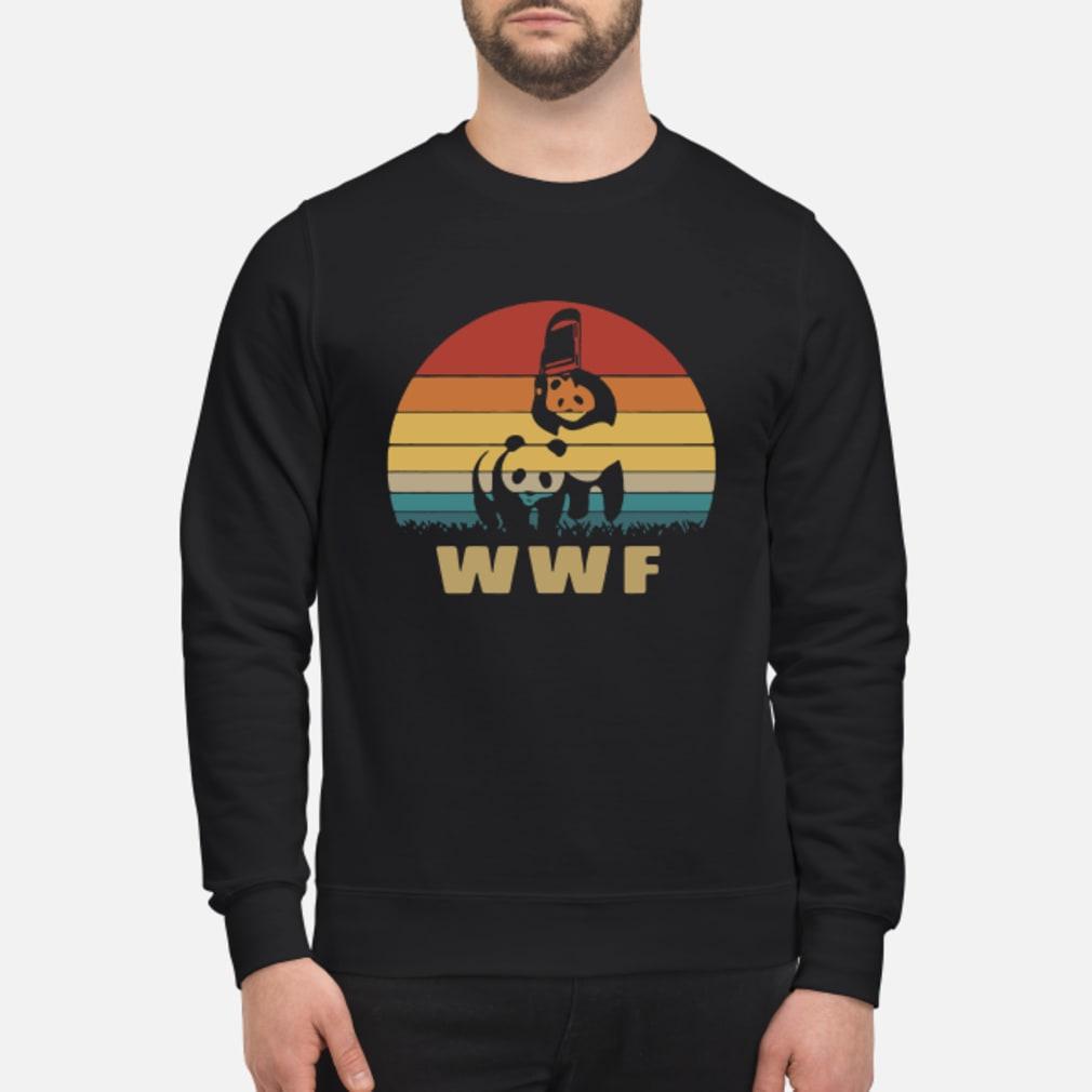 WWF wrestling panda vintage shirt sweater