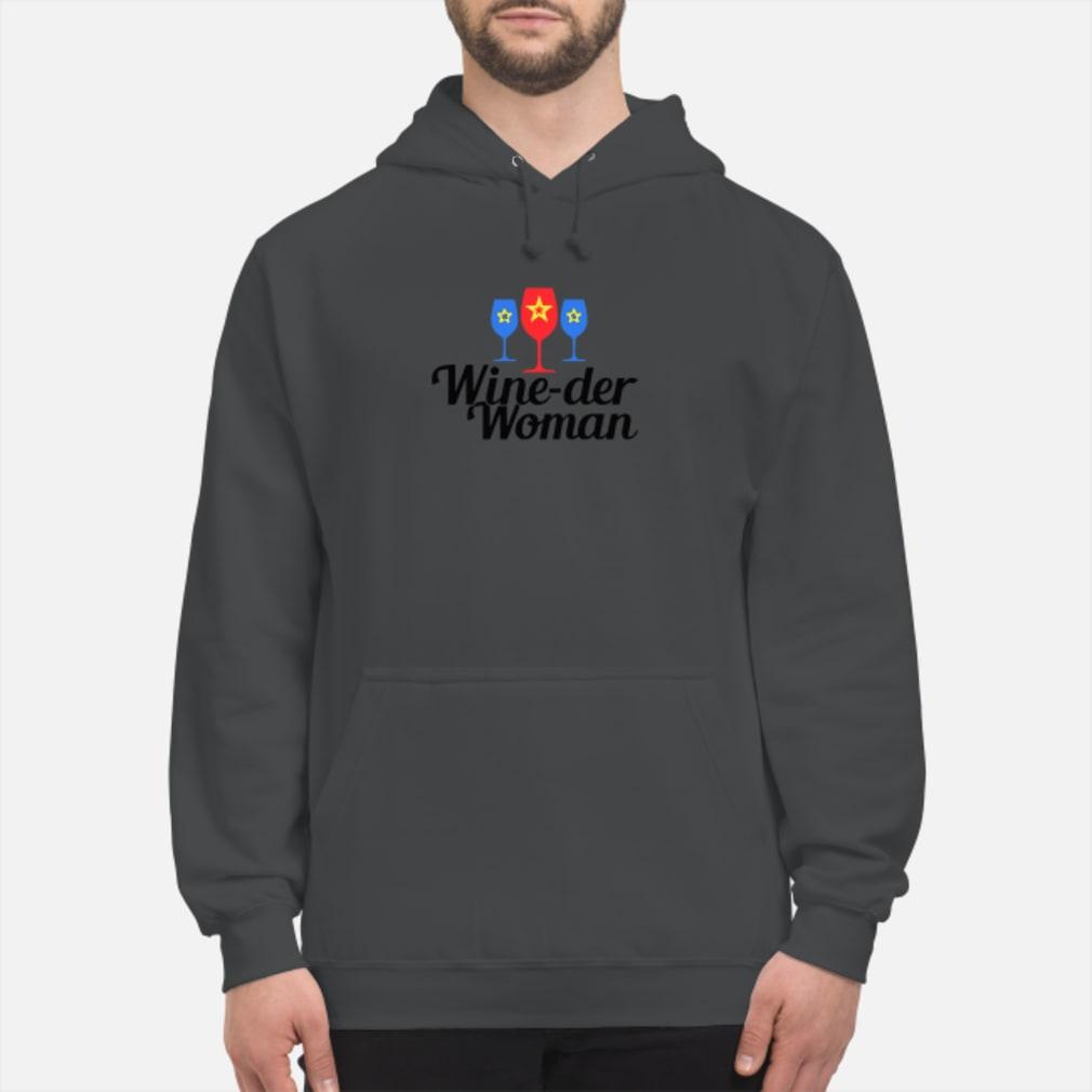 Wine-der Wonder woman shirt hoodie