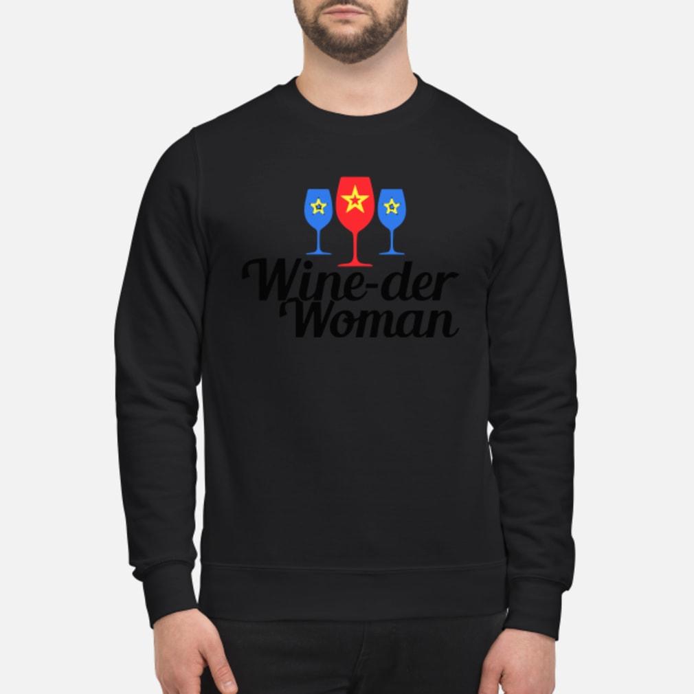 Wine-der Wonder woman shirt sweater