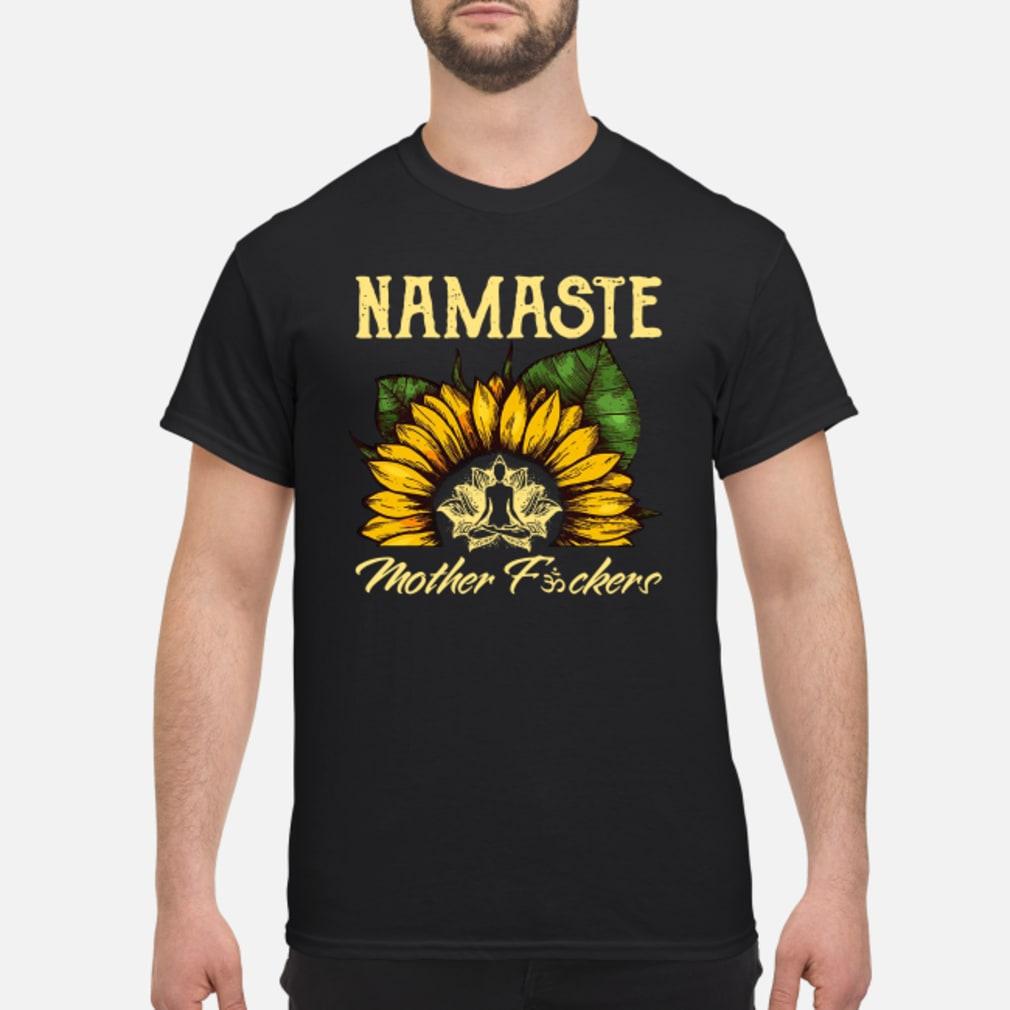 Yoga sunflower Namaste mother fuckers shirt