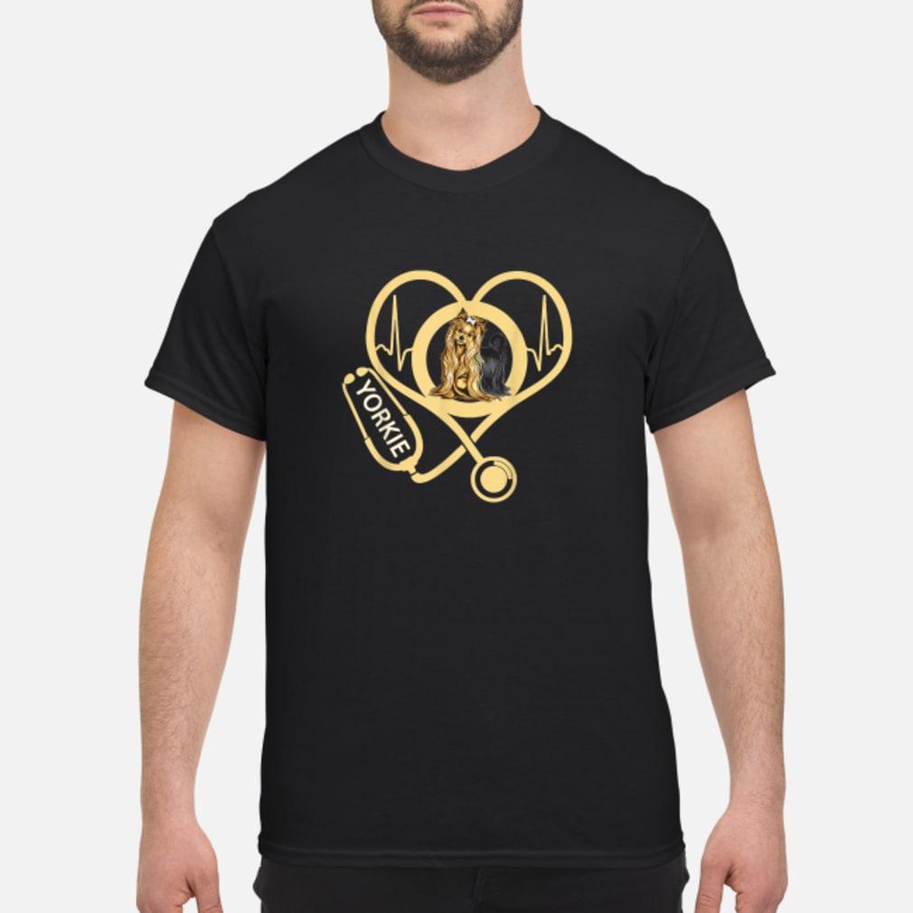 Yorkie Heartbeat Shirt For Nurses Nursing Shirt