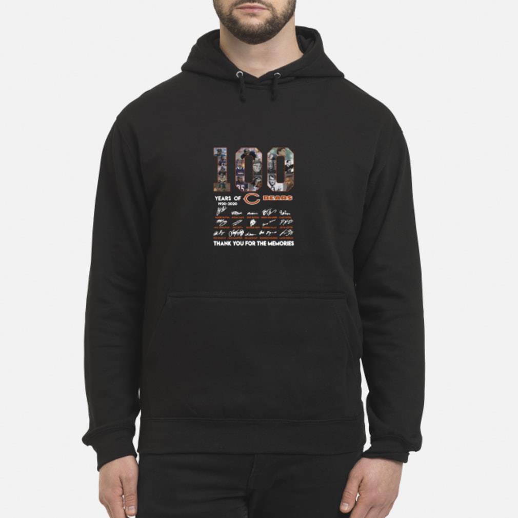 100 years of 1920-2020 Chicago Bears signatures shirt hoodie
