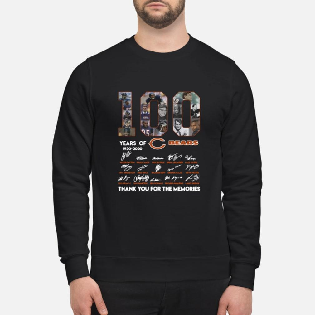 100 years of 1920-2020 Chicago Bears signatures shirt sweater