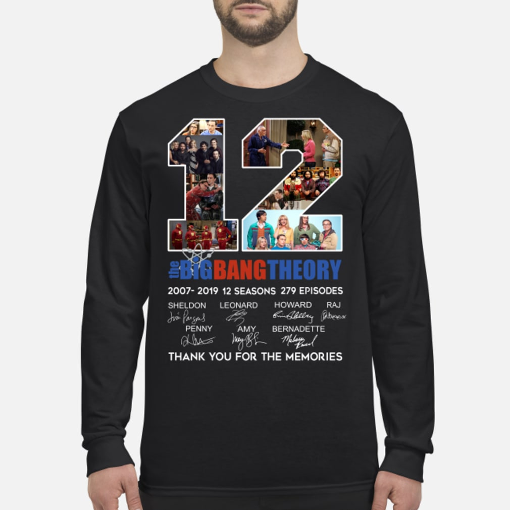 12 Years The Big Bang Theory Thank You For The Memories Classic T Shirt Long sleeved