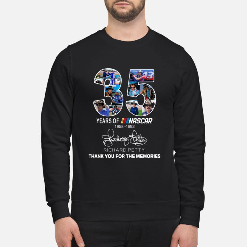 35 Years Of Nascar Richard Petty Thank You For The Memories Shirt sweater