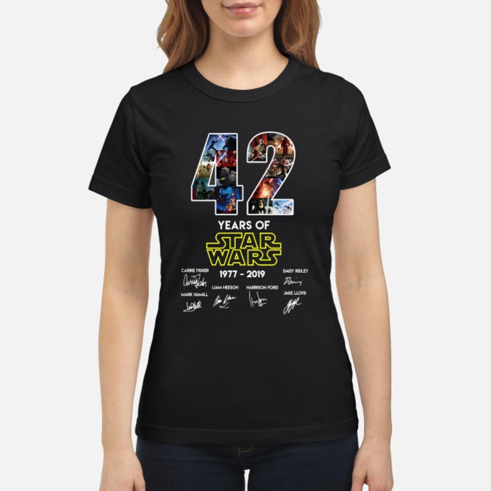42 Years Of Star Wars Signature Shirt ladies tee