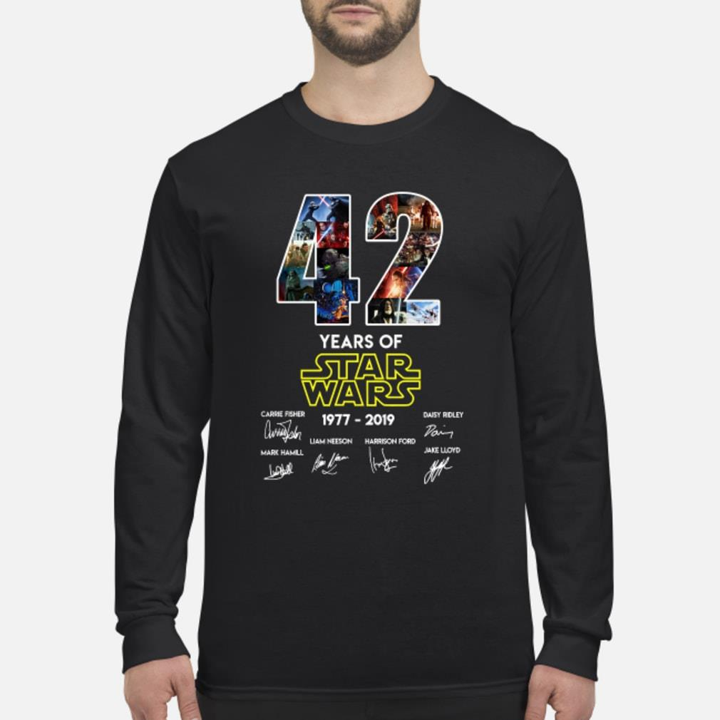 42 Years Of Star Wars Signature Shirt Long sleeved