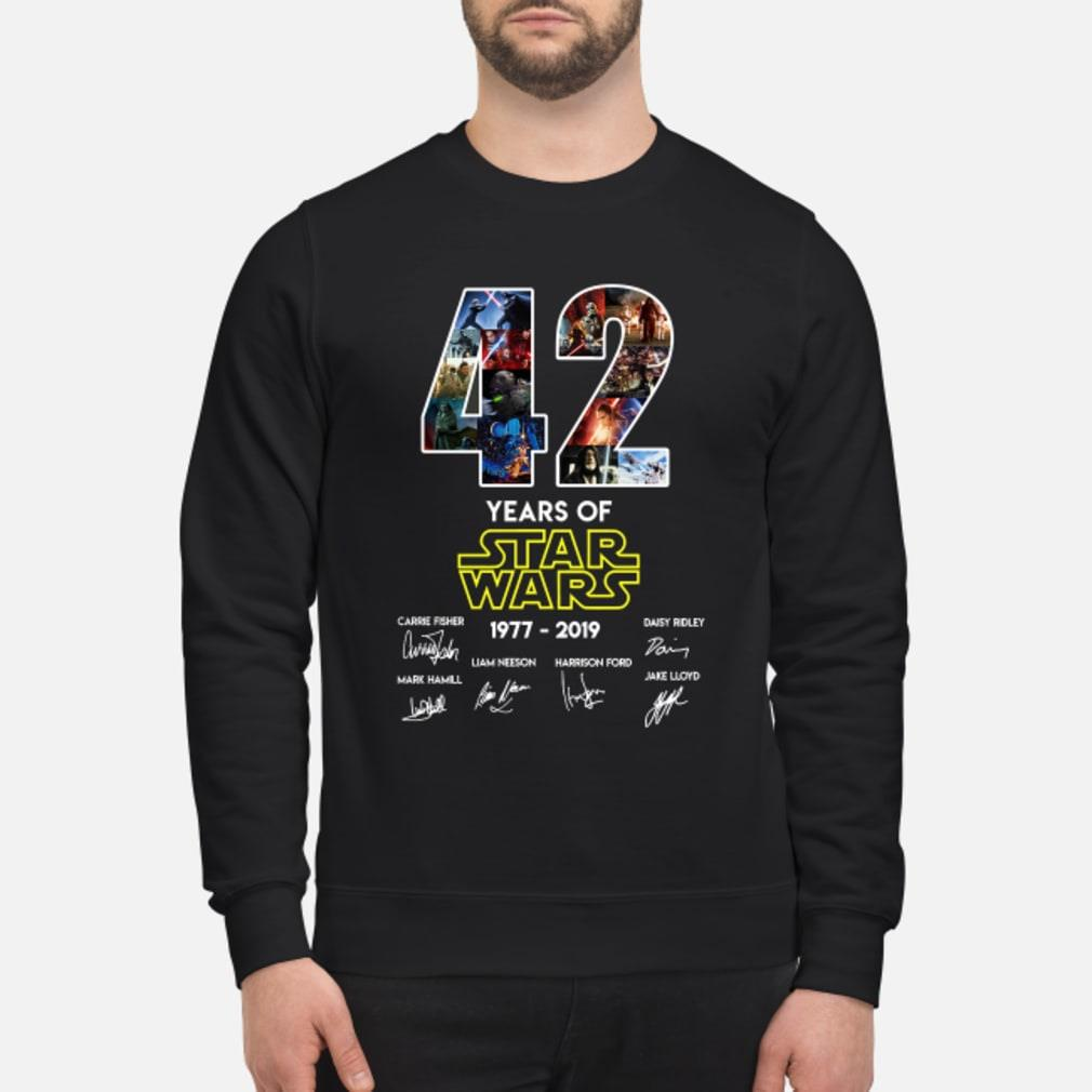 42 Years Of Star Wars Signature Shirt sweater